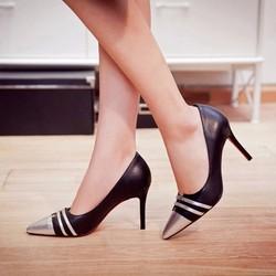 HÀNG CAO CẤP LOẠI I - Giày cao gót phối màu