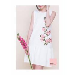 Đầm suông bèo lai hoa hồng - DKN840
