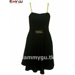 Đầm thời trang quyến rũ, nữ tính D37 - Màu đen
