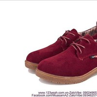 Giày oxford nữ da lộn phong cách năng động GUBB163
