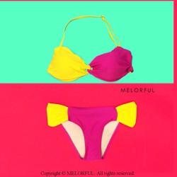Bikini 2 mảnh cúp ngang Colorblock
