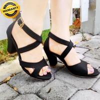 Giày Sandal Gót Vuông Nữ