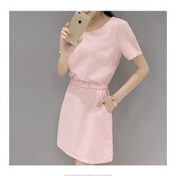 [Hàng nhập] Đầm kẻ sọc phong cách Hàn Quốc