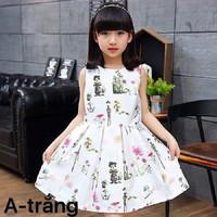 Đầm phi bé gái dễ thương màu trắng NX390Tr