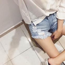 Quần short jeans rách