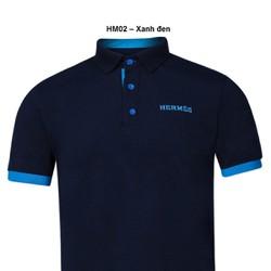 Áo thun Nam thương hiệu Hermes  thời trang cao cấp  – Xanh đen