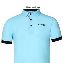 Áo thun Nam thương hiệu Hermes thời trang cao cấp – Xanh biển