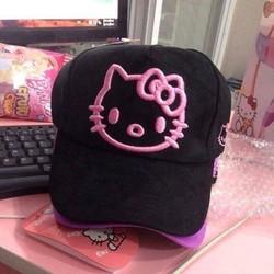 Nón kết nữ thêu Hello Kitty
