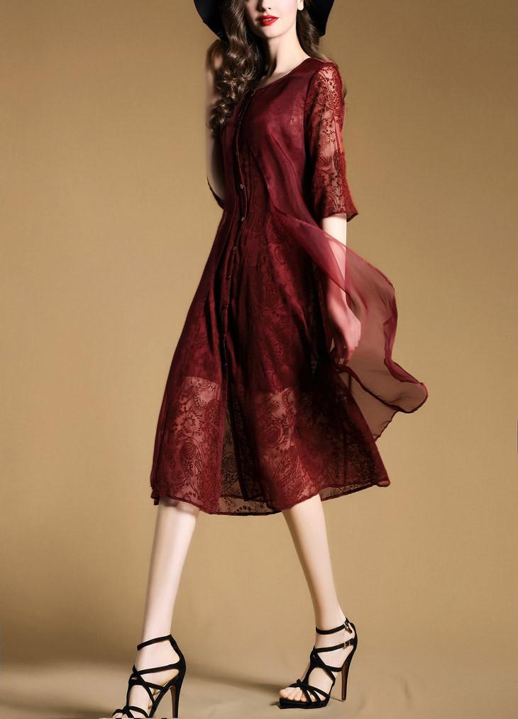 Đầm lụa ren Lady Diary 12 5