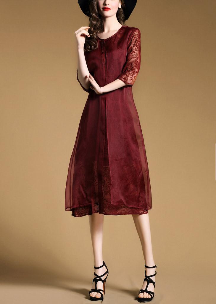 Đầm lụa ren Lady Diary 12 4