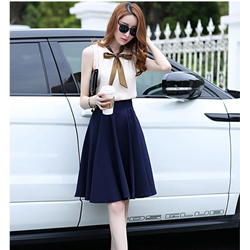 Set áo thăt nơ- chân váy vintaga