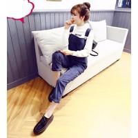 Quần jeans yếm phối túi Mã: QD1120 - XANH ĐEN