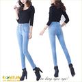 Hàng nhập-Quần Jeans cao cấp lưng thun co giãn nhiều nút GLQ001