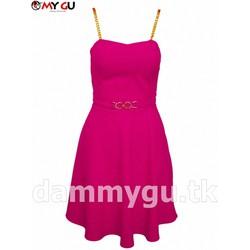 Đầm thời trang quyến rũ, nữ tính D37 - Màu hồng