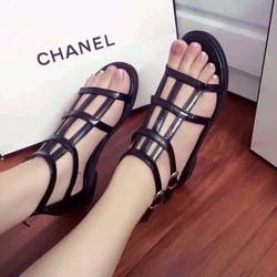 HÀNG NHẬP CAO CẤP LOẠI I - Giày sandal nữ đan ô vuông sành điệu