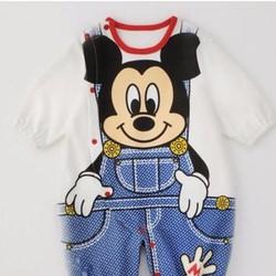 bodysuit - Áo liền quần Mickey giả jean