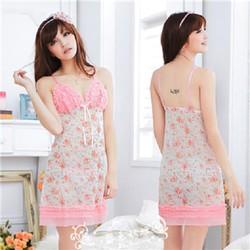 Đầm Ngủ Hoạt Tiết Dễ Thương M6012