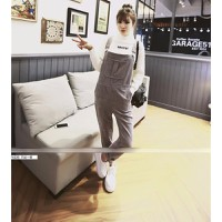 Quần jeans yếm phối túi Mã: QD1120 - XÁM