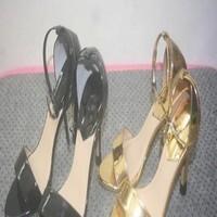Giày cao gót nữ hở mũi dạng sandal da bóng xinh đẹp GCN266