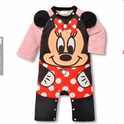 bodysuit - Áo liền quần Mickey đeo nơ
