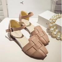 Giày Sandal nữ cutout kiểu dáng thời trang mẫu mới 2016 - SG0284