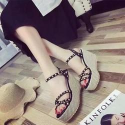 HÀNG NHẬP CAO CẤP - Giày sandal đế xuồng sang trọng