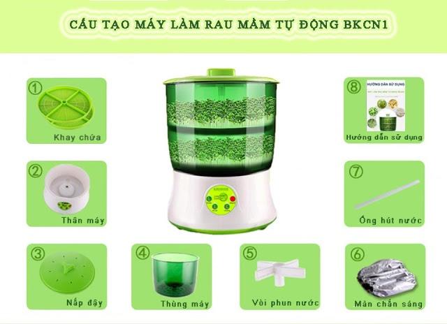 Máy làm giá đỗ rau mầm sạch của Đại học bách khoa Hà Nội 6