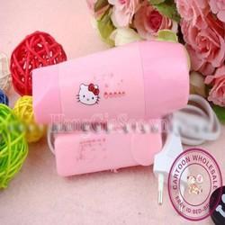 Máy sấy tóc mini Hello Kitty tiện dụng