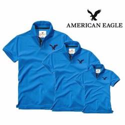 Combo 3 Áo Gia Đình EAGLE Cực Đẹp EAGLE_04 xanh da