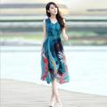 Hàng nhập: Đầm maxi họa tiết tươi trẻ MX094