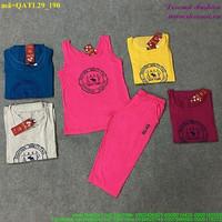 Bộ thể thao nữ AF áo 3 lỗ quần lửng sành điệu bQATL29