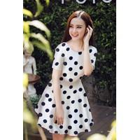 Đầm Xòe Chấm Bi To Đẹp Như Phương Trinh - 3109.DZO