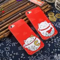 Ốp lưng iphone 6 Plus mèo thần tài
