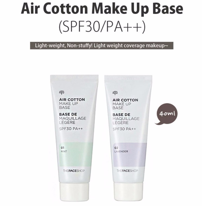 Kem lót  Air Cotton Makeup Base The Face Shop 1