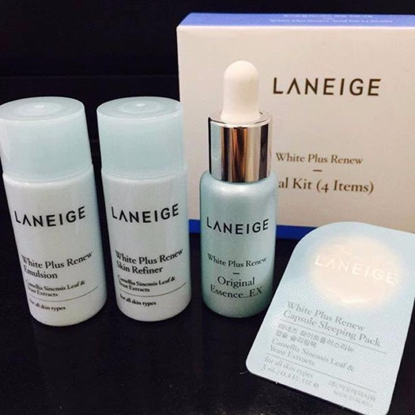 Set dưỡng trắng da Laneige white plus renew trial kit 4 items 1