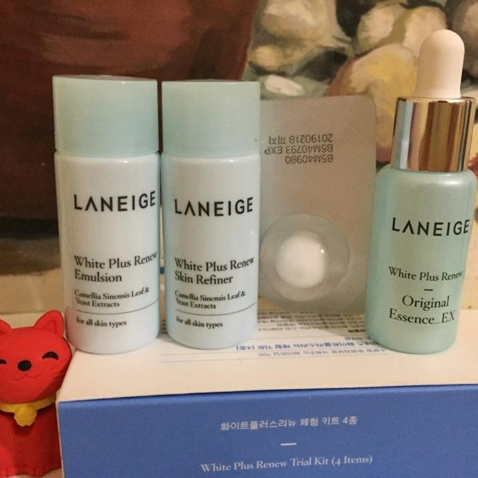Set dưỡng trắng da Laneige white plus renew trial kit 4 items 2