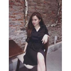 Đầm suông cổ sơ mi túi đơn giản xinh iu - 2671.DZO