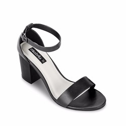 Giày xăng đan gót vuông 1204 màu đen