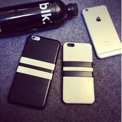 Ốp lưng dẻo da sọc trắng đen iphone 5,5s,5se,6,6s,6 plus,6s plus