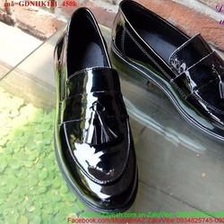 Giày da nam công sở đi tiệc da bóng thắt nơ lịch lãm GDNHK181