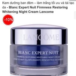 Kem dưỡng ban đêm LANCOME Blanc Expert Nuit 15ml-MP775