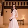 Đầm dự tiệc hồng sang trọng quyến rũ