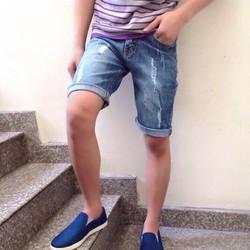 Quần short chất liệu jean pha thun mặc cực kì thoải mái