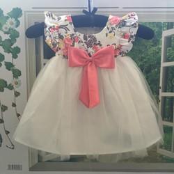 Đầm hoa xòe cực xinh cho bé gái MSP B011