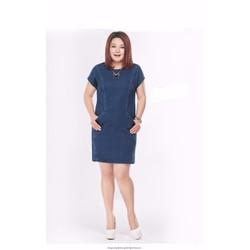 Đầm jean oversize túi xéo sành điệu