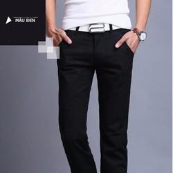 Quần Dài Kaki Nam Kiểu Hàn Quốc  màu đen
