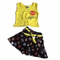 Bộ áo thun+ váy SUBI-18