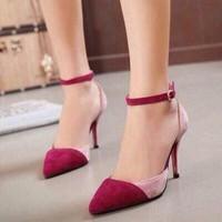 HÀNG LOẠI I - Giày cao gót phối màu xinh