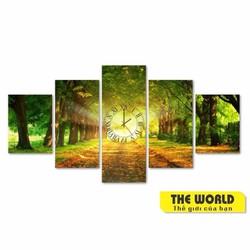 Tranh đồng hồ The World - Tranh phong cảnh đẹp TW0011