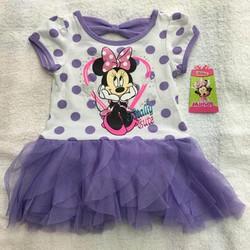 Đầm Mini bé gái MICKEY chấm bi dễ thương hàng Mỹ chính hãng xách tay
